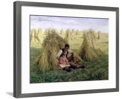 The Story of Ruth and Boaz, 1894-Frank Topham-Framed Giclee Print