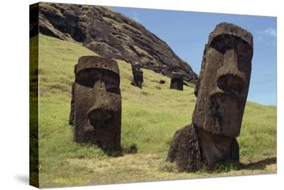 Moai--Stretched Canvas Print