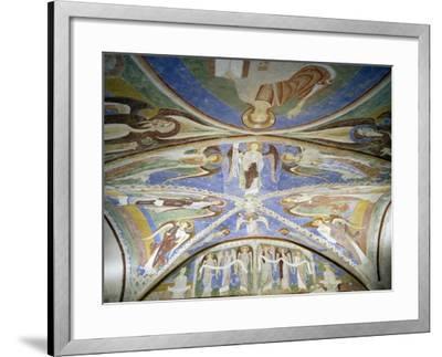 Frescoed Stone Cross--Framed Giclee Print