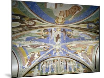 Frescoed Stone Cross--Mounted Giclee Print
