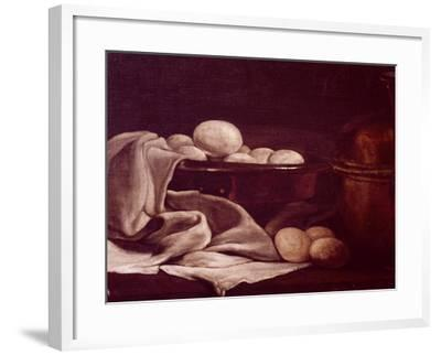Still Life Showing Brie Cheese-Francois Bonvin-Framed Giclee Print