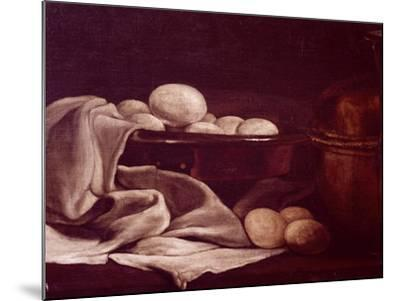 Still Life Showing Brie Cheese-Francois Bonvin-Mounted Giclee Print