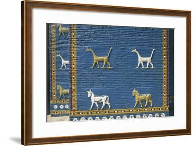 Detail of the Reconstruction of the Ishtar Gate--Framed Photographic Print