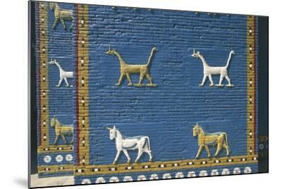 Detail of the Reconstruction of the Ishtar Gate--Mounted Photographic Print
