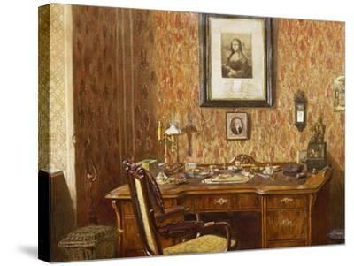Interior of Johannes Brahms'--Stretched Canvas Print