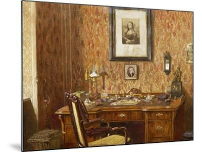 Interior of Johannes Brahms'--Mounted Giclee Print
