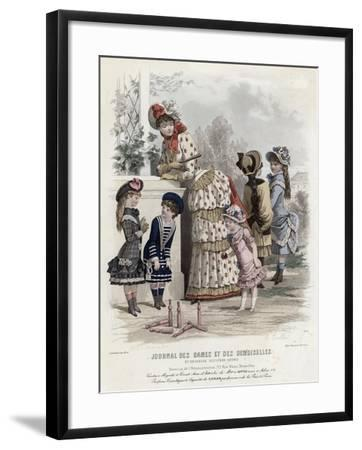 French Fashion Plate, Late 19th Century--Framed Giclee Print