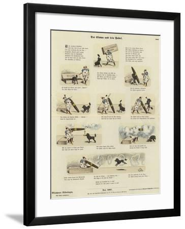 The Clown and His Poodle--Framed Giclee Print