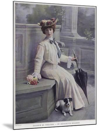 Henriette Roggers, French Actress--Mounted Giclee Print