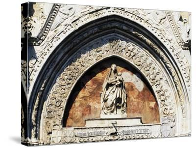 Virgin and Child Statue, by Pietro De Bonitate--Stretched Canvas Print