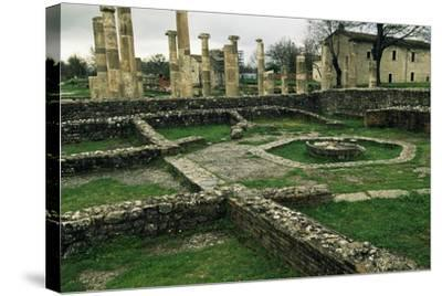The Ruins of the Basilica and the Macellum--Stretched Canvas Print
