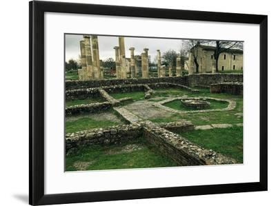 The Ruins of the Basilica and the Macellum--Framed Giclee Print