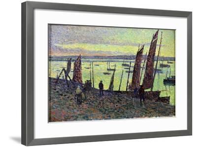 Boats at Camaret, 1893-Maximilien Luce-Framed Giclee Print