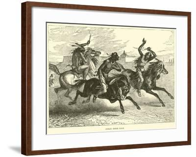 Indian Horse Race--Framed Giclee Print