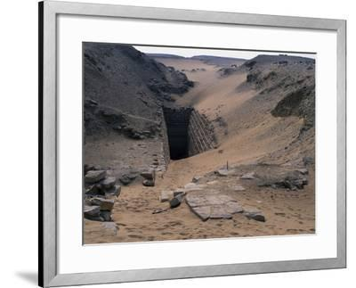 Entrance to Step Pyramid of Sekhemkhet, Saqqara--Framed Photographic Print
