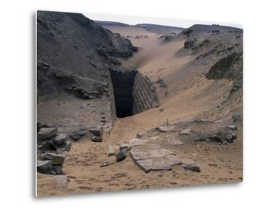 Entrance to Step Pyramid of Sekhemkhet, Saqqara--Metal Print