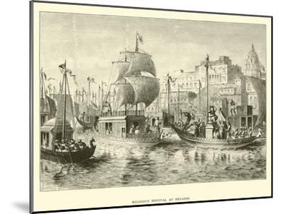 Religious Festival at Benares--Mounted Giclee Print