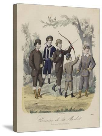 French Boys' Fashions--Stretched Canvas Print