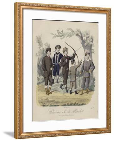 French Boys' Fashions--Framed Giclee Print