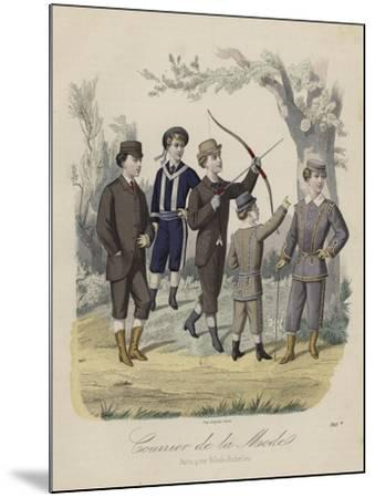 French Boys' Fashions--Mounted Giclee Print