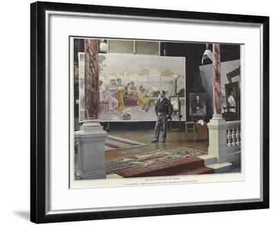 Francois Flameng in His Workshop--Framed Photographic Print