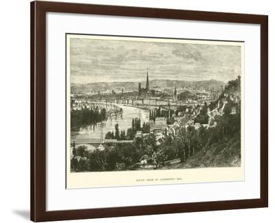 Rouen from St Catherine's Hill--Framed Giclee Print