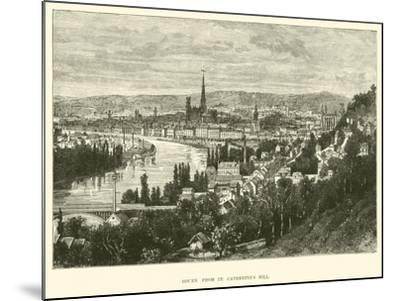 Rouen from St Catherine's Hill--Mounted Giclee Print