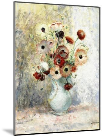 Bouquet of Anemones-Henri Lebasque-Mounted Giclee Print