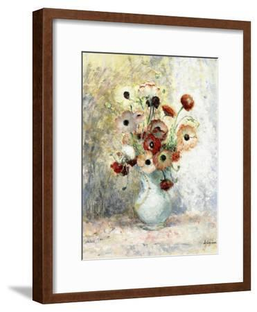 Bouquet of Anemones-Henri Lebasque-Framed Giclee Print