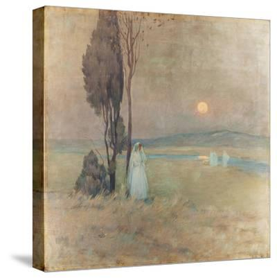 The Communion, 1893-Henri Eugene Augustin Le Sidaner-Stretched Canvas Print