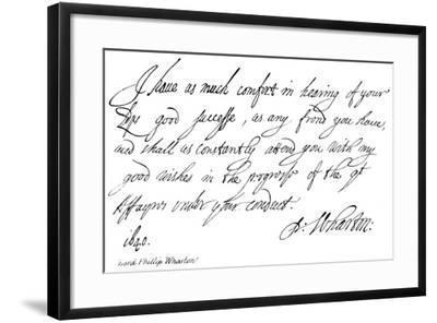 Lord Phillip Wharton--Framed Giclee Print