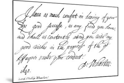 Lord Phillip Wharton--Mounted Giclee Print