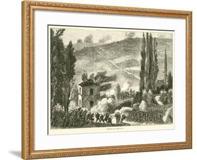 Combat at Chatillon, October 1870--Framed Giclee Print