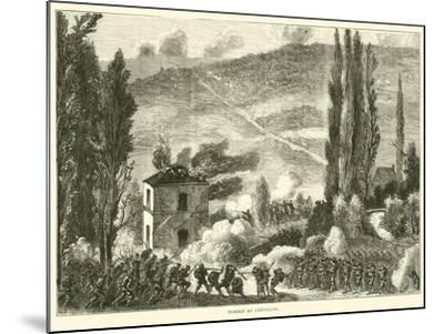 Combat at Chatillon, October 1870--Mounted Giclee Print