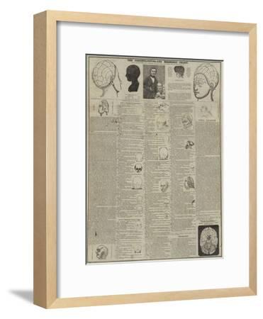 The Phrenological and Mesmeric Chart--Framed Giclee Print
