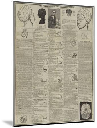 The Phrenological and Mesmeric Chart--Mounted Giclee Print