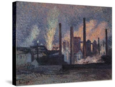 Study for Factories Near Charleroi, 1897-Maximilien Luce-Stretched Canvas Print