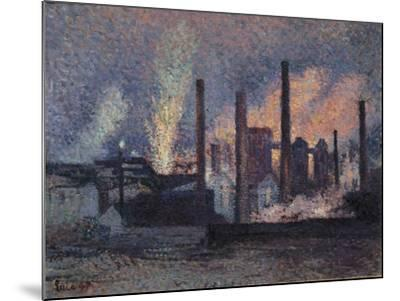 Study for Factories Near Charleroi, 1897-Maximilien Luce-Mounted Giclee Print