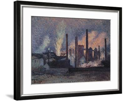 Study for Factories Near Charleroi, 1897-Maximilien Luce-Framed Giclee Print