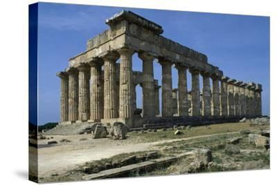 Temple of Hera--Stretched Canvas Print