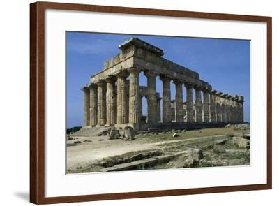 Temple of Hera--Framed Giclee Print