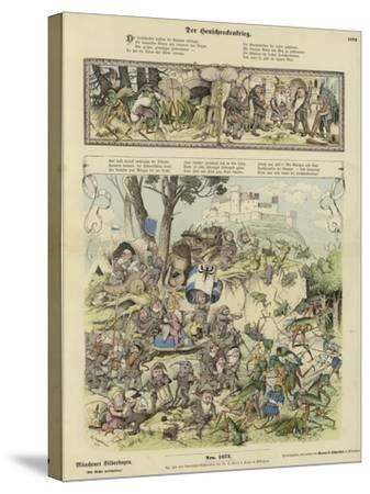 War Between Gnomes and Locusts--Stretched Canvas Print