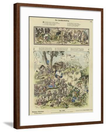 War Between Gnomes and Locusts--Framed Giclee Print