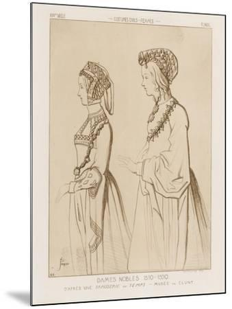Noble Women, 1510-1520-Raphael Jacquemin-Mounted Giclee Print