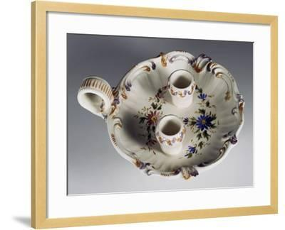 Candlestick with Floral Decoration--Framed Giclee Print