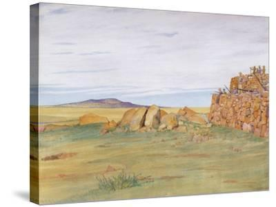 Soldiers Defending Rhenoster Kop in the Boer War-George, 9th Earl of Carlisle Howard-Stretched Canvas Print