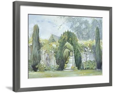 Yew Arches, Garsington Manor, 1997-Ariel Luke-Framed Giclee Print