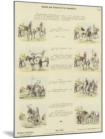 Barthl and Donisl in the Cavalry--Mounted Giclee Print