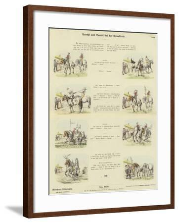 Barthl and Donisl in the Cavalry--Framed Giclee Print