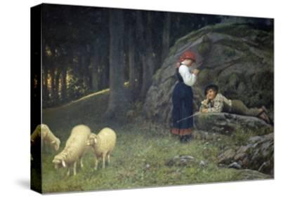 Grazing-Francesco Burlazzi-Stretched Canvas Print